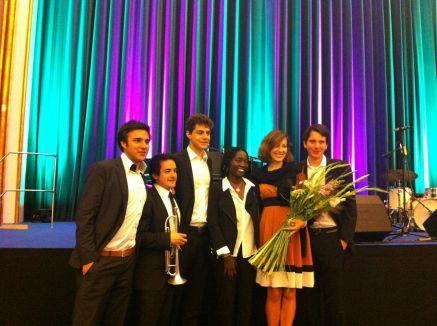 //The Film Academy awards 2013, Kino Babylon Berlin// The Major Minors with Mb and Auma Obama
